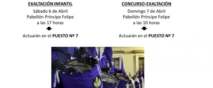 ORDEN DE PARTICIPACIÓN EN LA EXALTACIÓN INFANTIL Y CONCURSO DE MAYORES 2019.